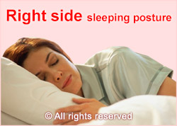 sleeping position right side